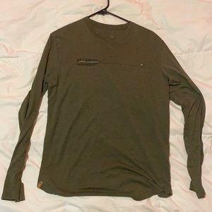 Green long sleeve Tentree shirt. Medium